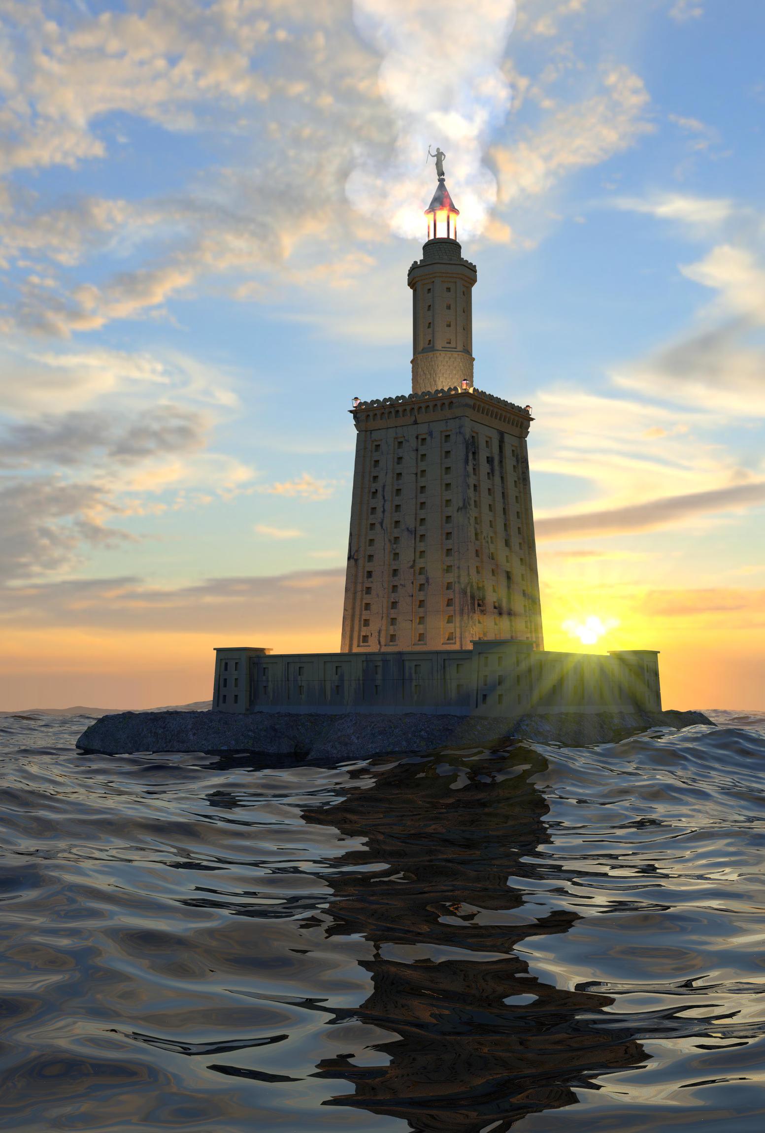 Александрийский маяк интересные факты фото