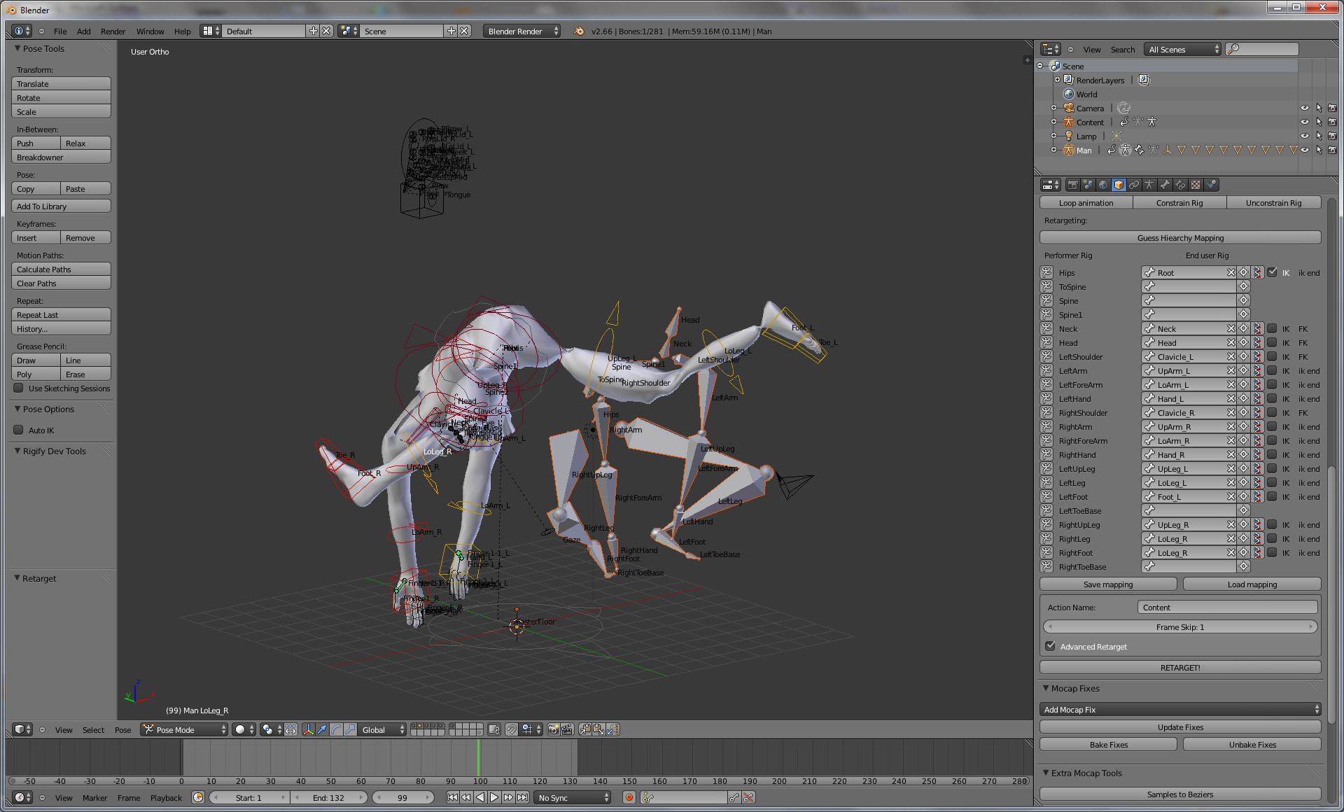 BVH tool and Make human Rig - Animation and Rigging - Blender