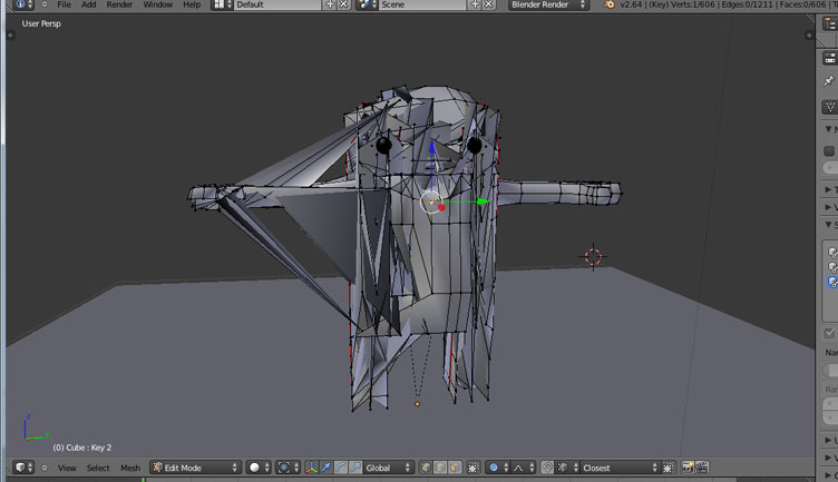 Shape Keys mess up character - Animation and Rigging