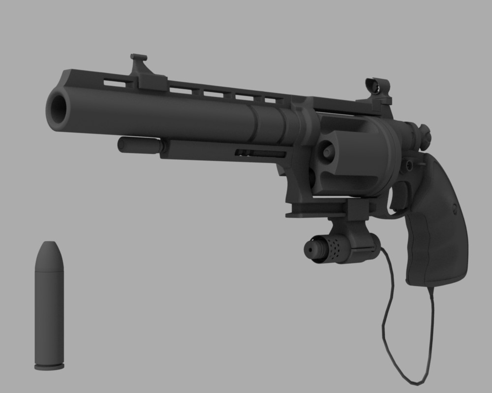 custom made revolver (More add-ons available) - Works in Progress
