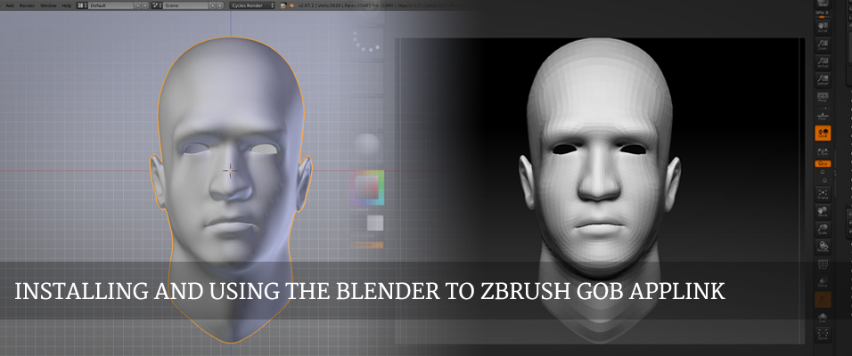 GoB: Working with the Blender/ZBrush Applink - Tutorials