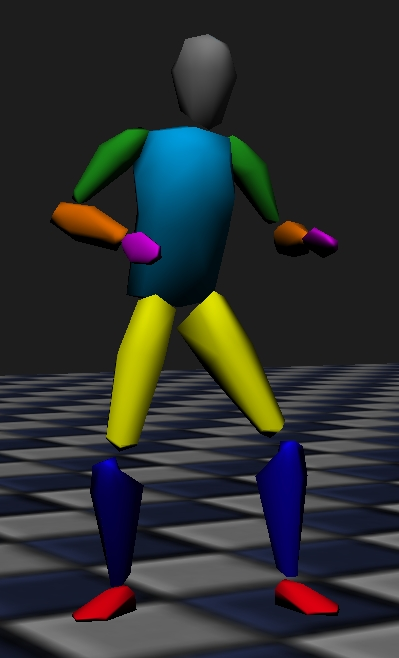 free animated human for tests game engine resources blender