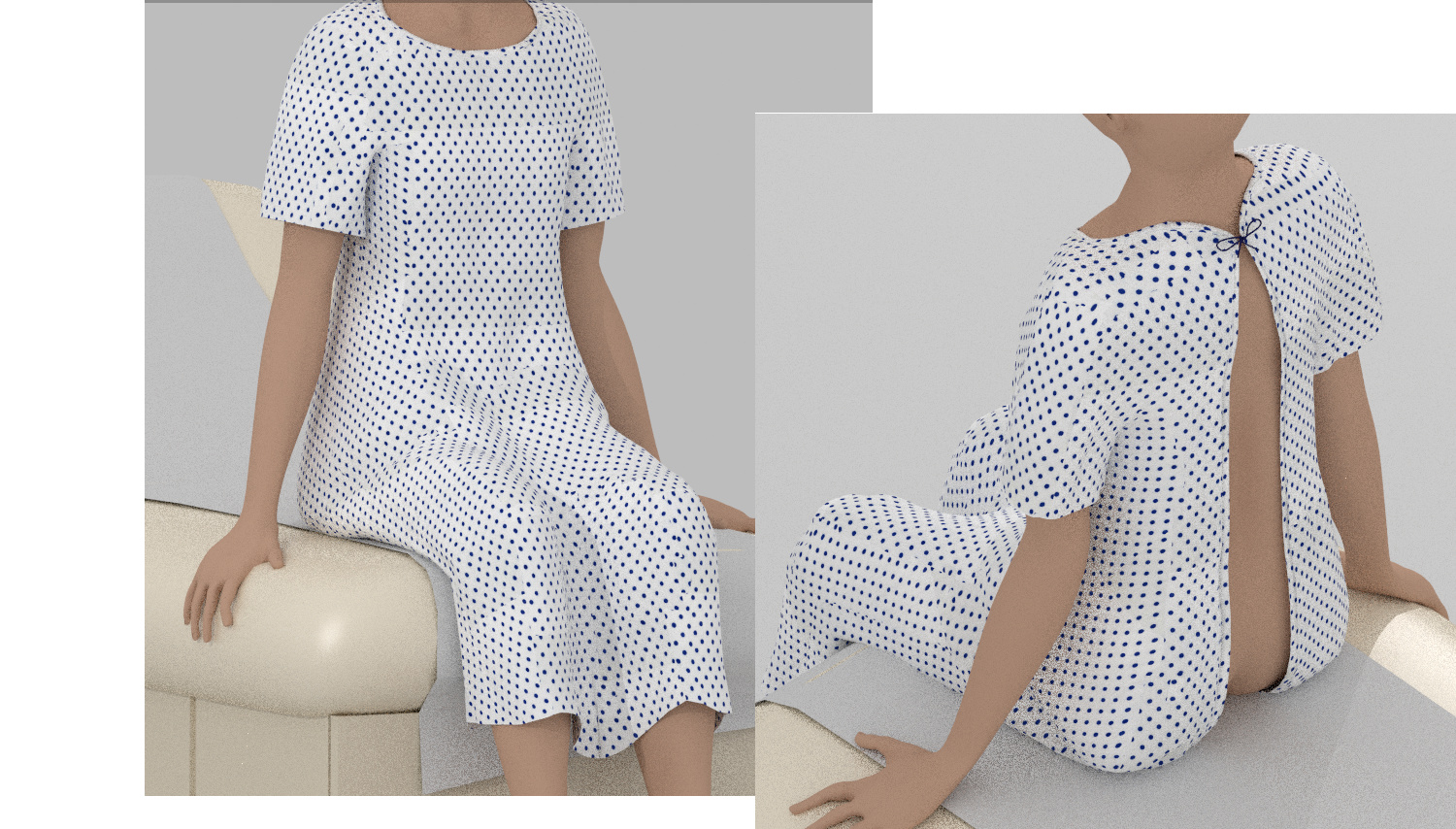 Seams on a hospital gown - Materials and Textures - Blender Artists ...