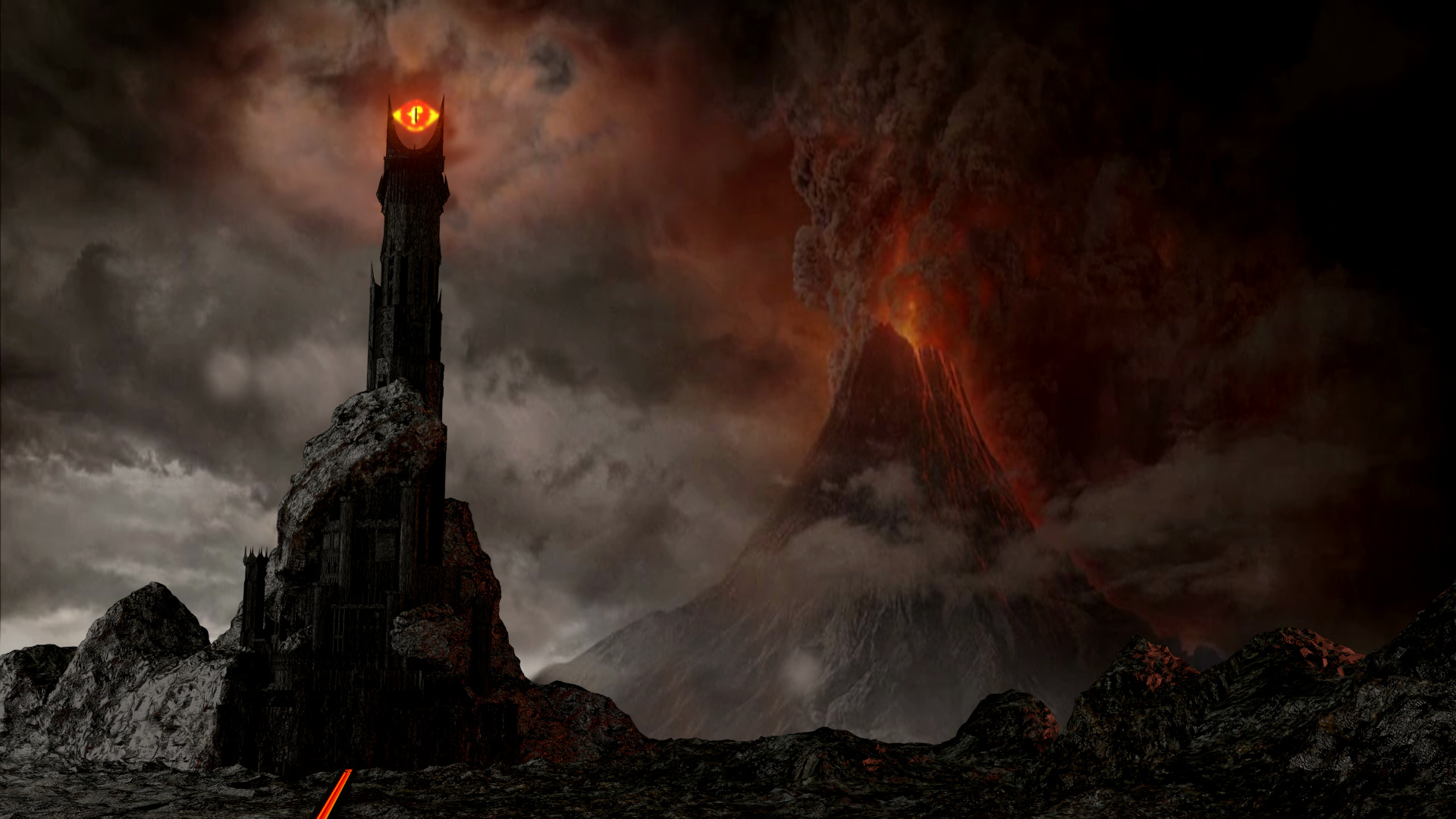 Lord of the Rings Eye of Sauron Mordor Zoom Background