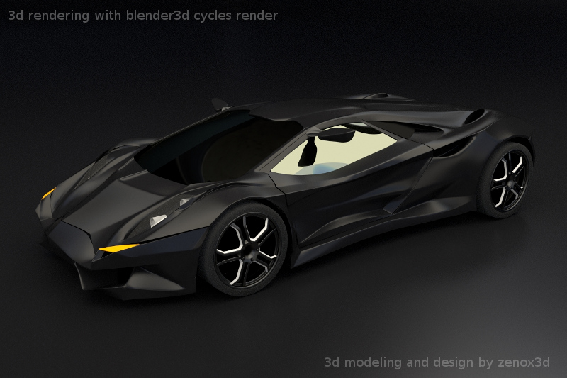 Concept Car Rendering With Cycles Works In Progress Blender