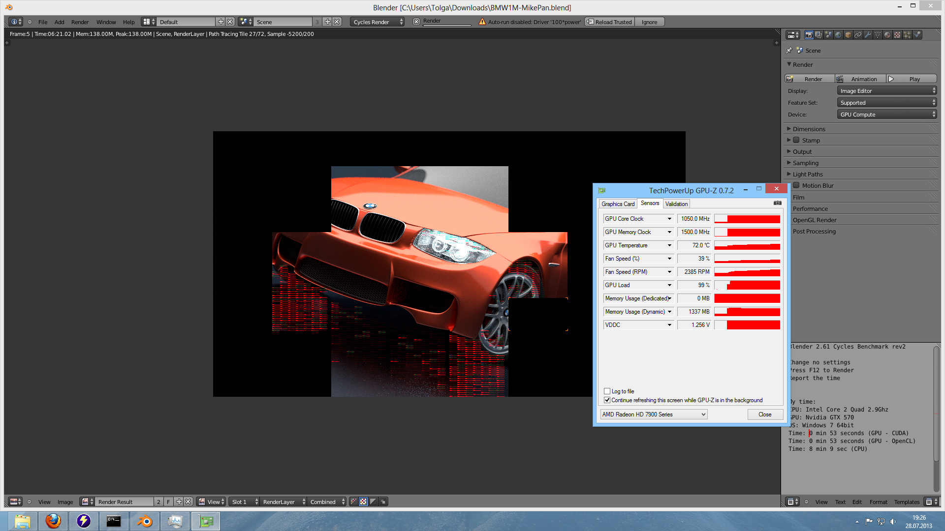 Blender Cycles AMD Opencl It's possible working now  - Technical