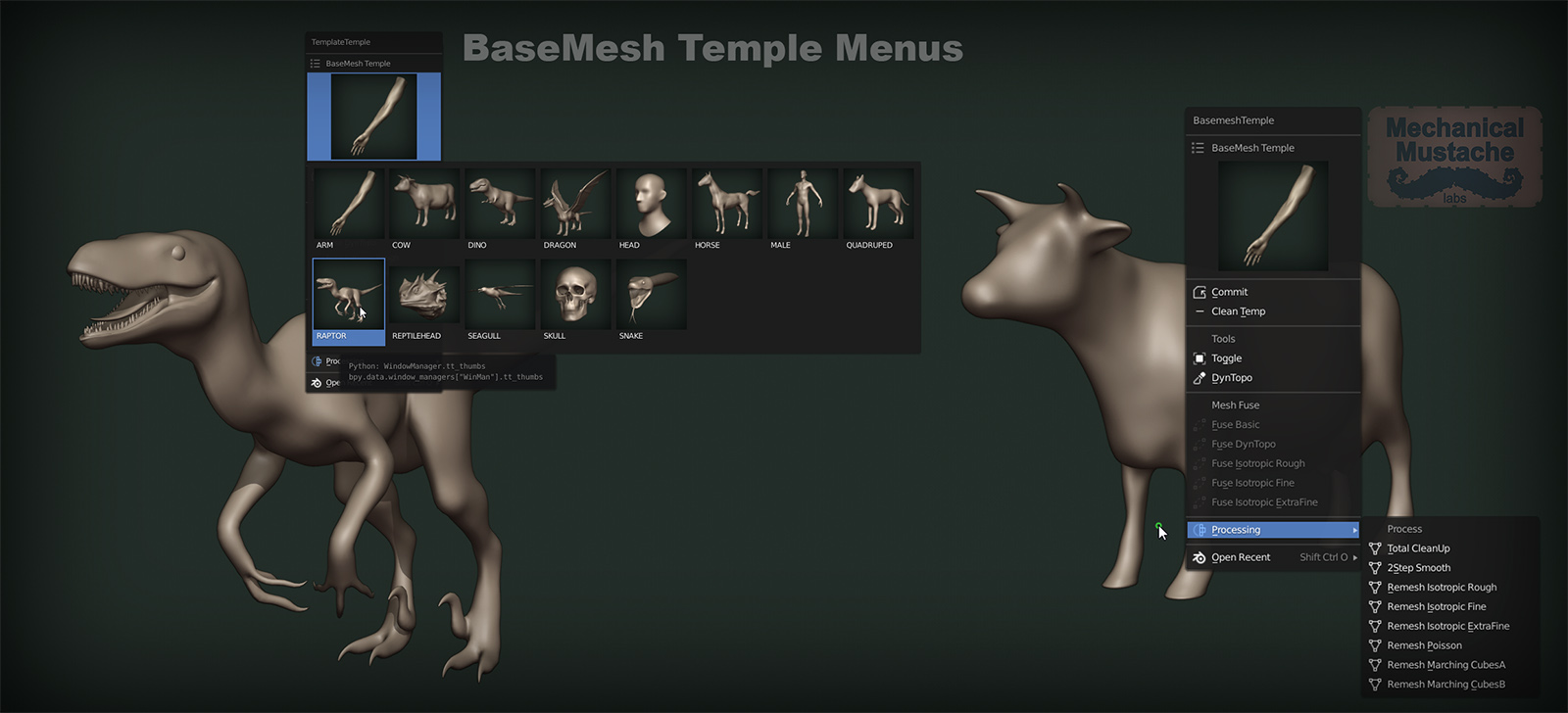 BaseMesh Temple: An awesome way of sculpting in Blender