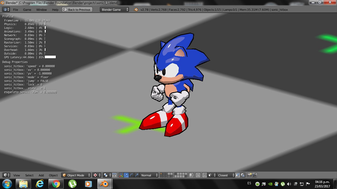 Low-Poly Classic Sonic The Hedgehog 3D model - Works in