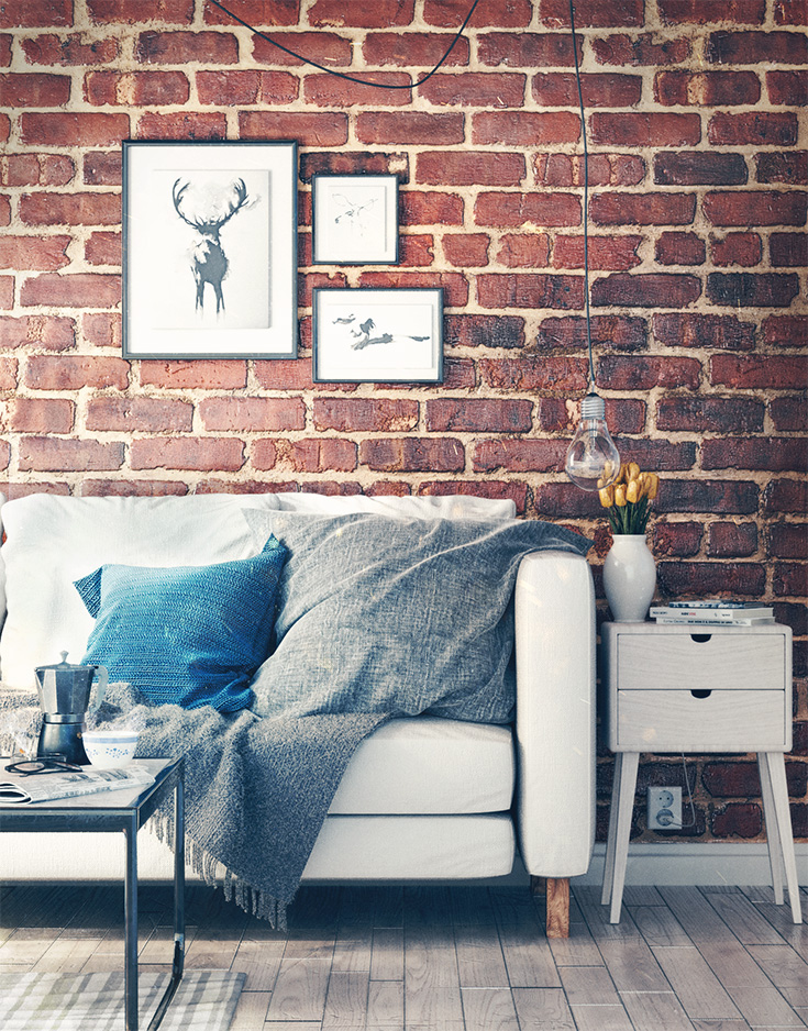 Brick Wall Interior Finished Projects Blender Artists Community