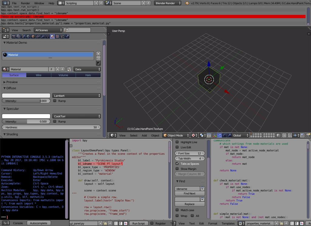 run python script with button - Python Support - Blender Artists