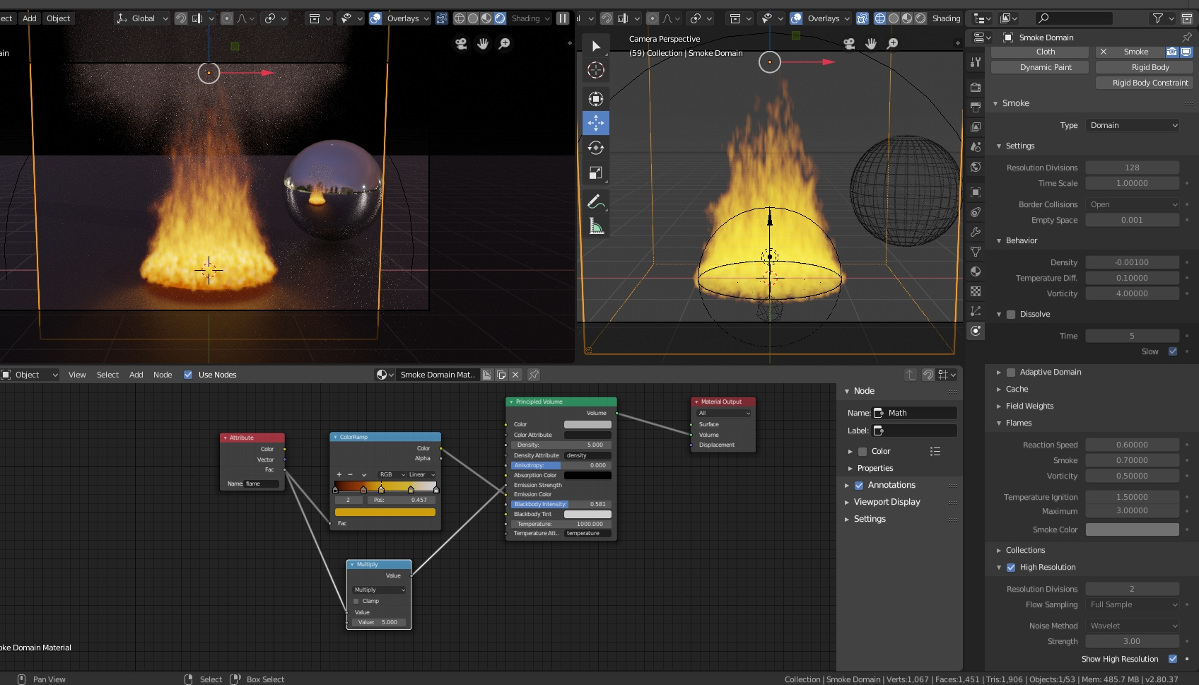 How to Realistic Fire in Blender 2 8 (EEVEE / Cycles) - Particles