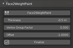 Face2WeightPaint