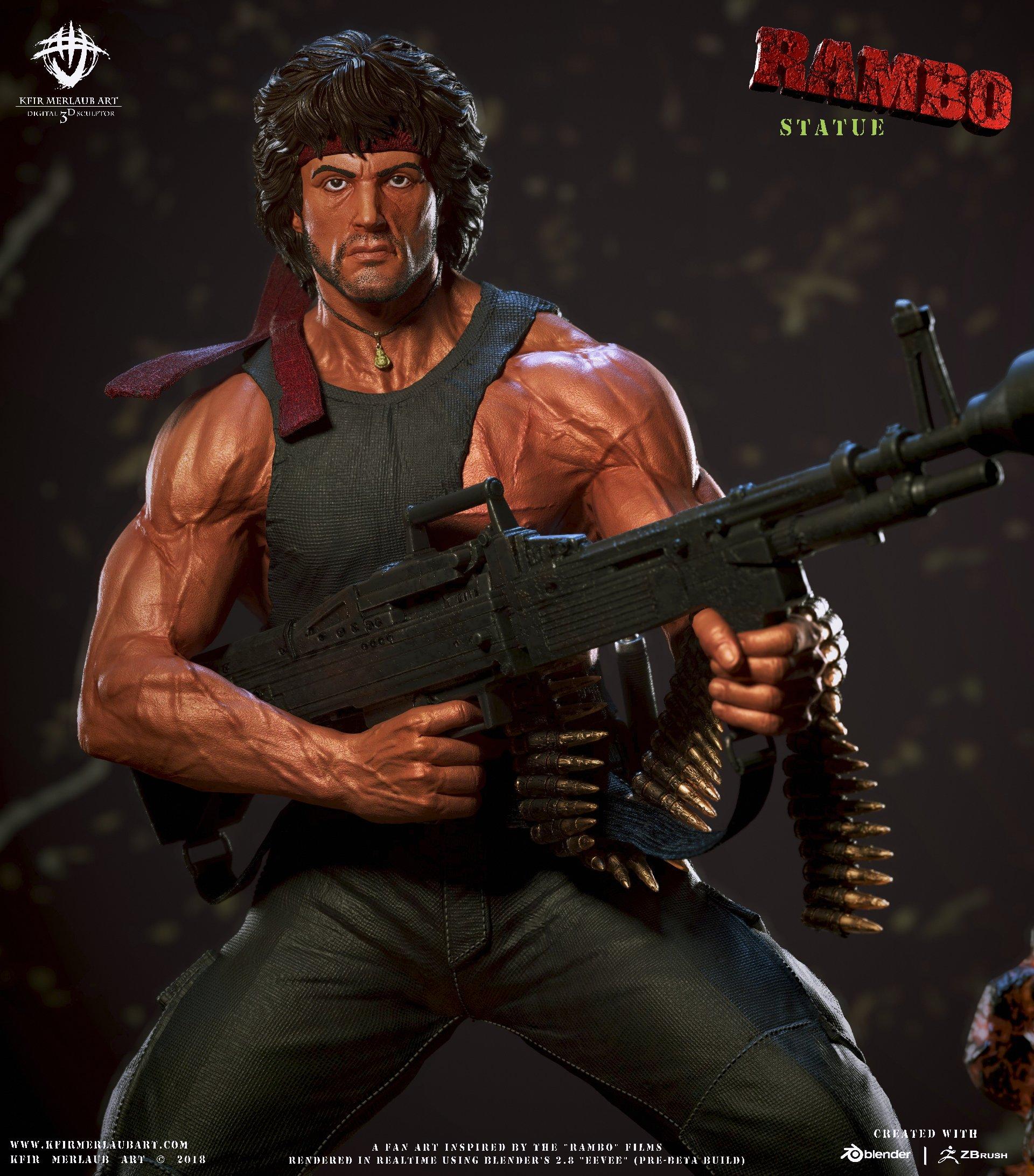 Rambo Statue   Kfir Me...