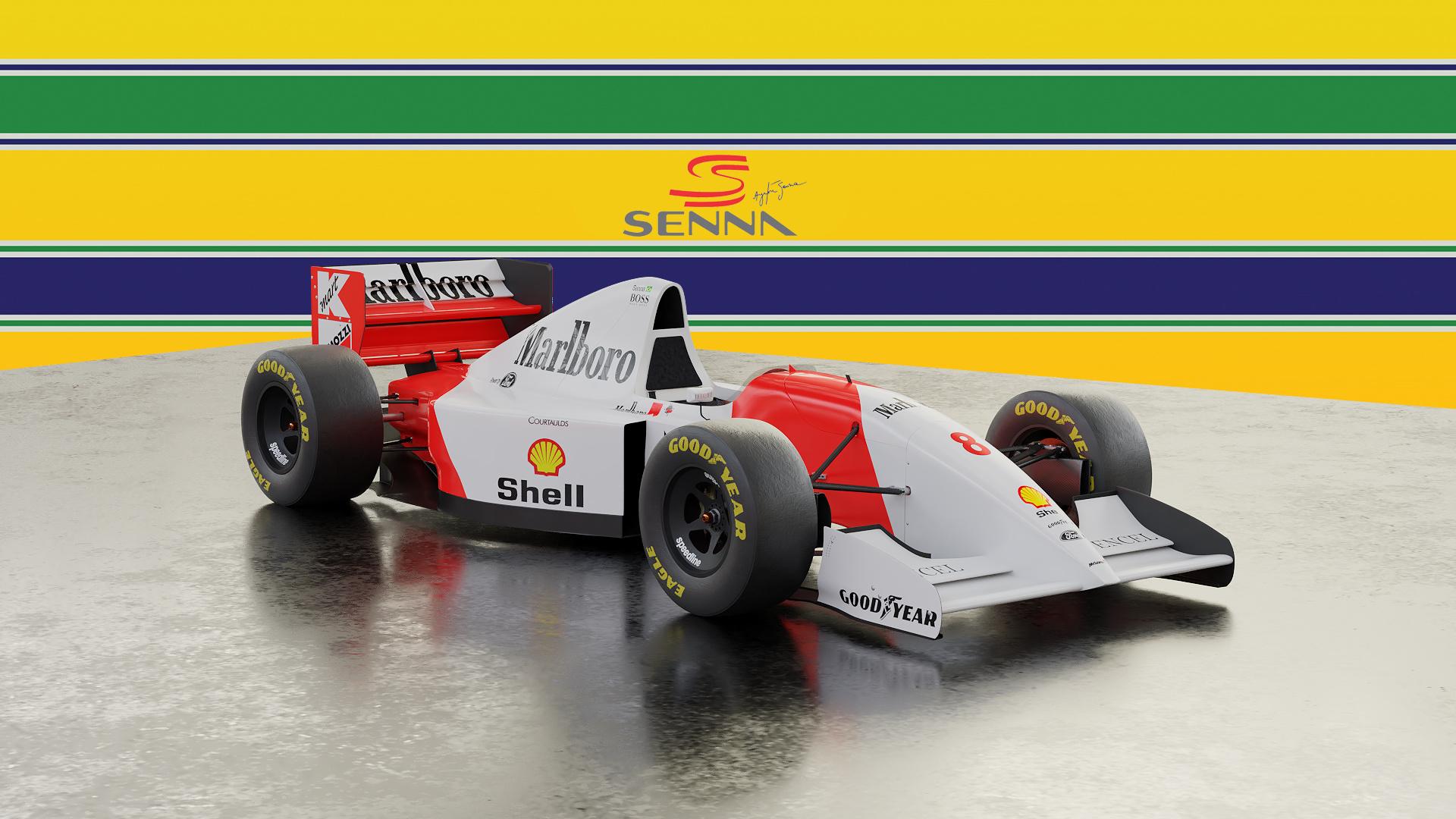 Mclaren Mp4 8 Ayrton Senna Wallpaper Finished Projects