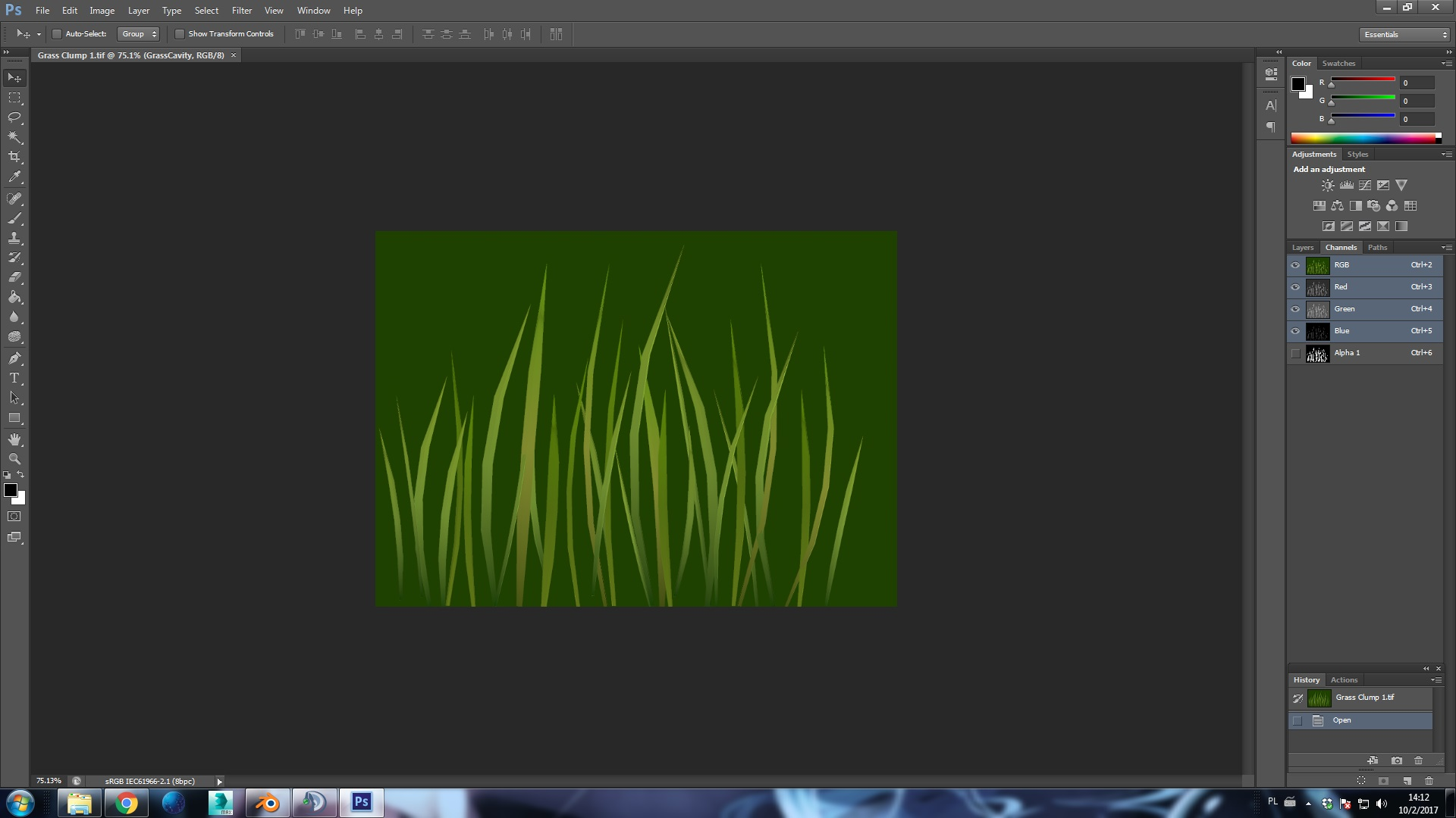 Render to texture, project image on the plane - Grass for