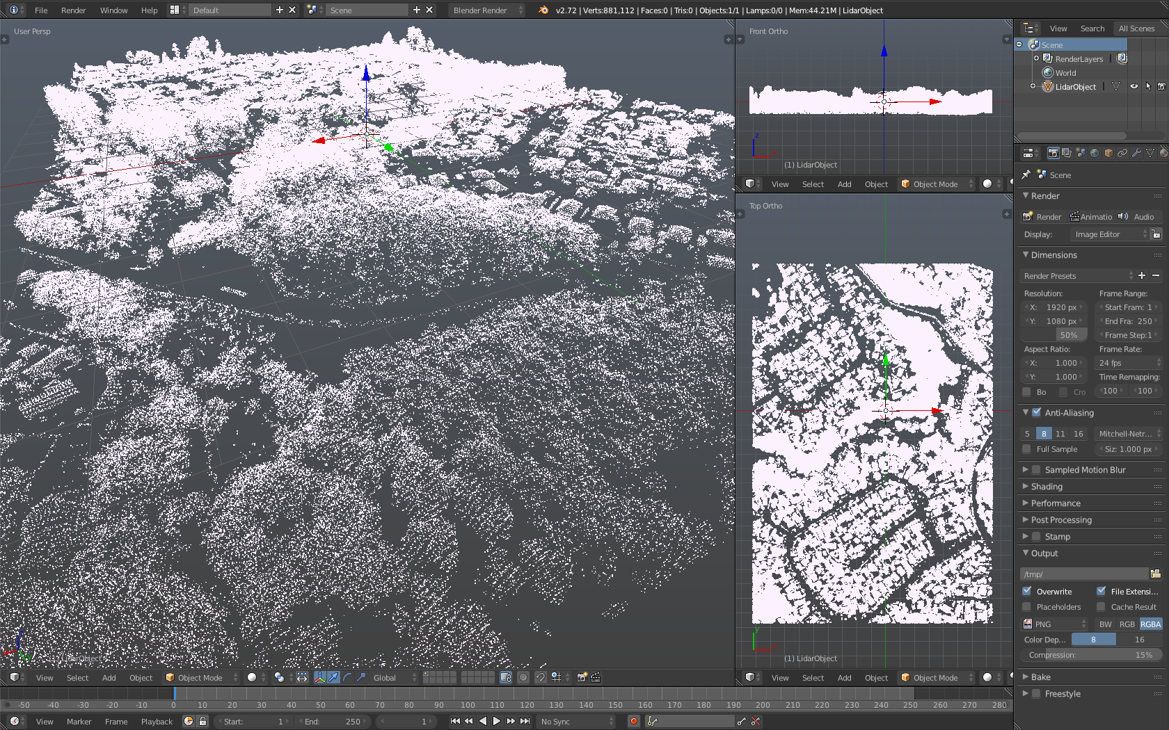 WIP] LiDAR Point Cloud Importer with 3D Object Recognition