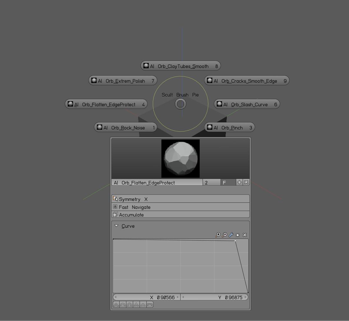 Zbrush Orb Brush pack for Blender 3D - Blender and CG