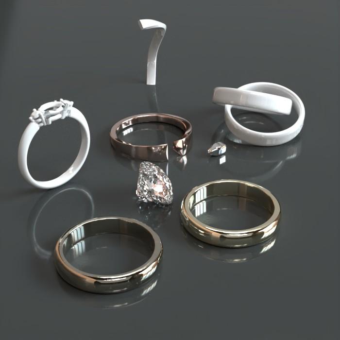 Rings - Prorender - Gray