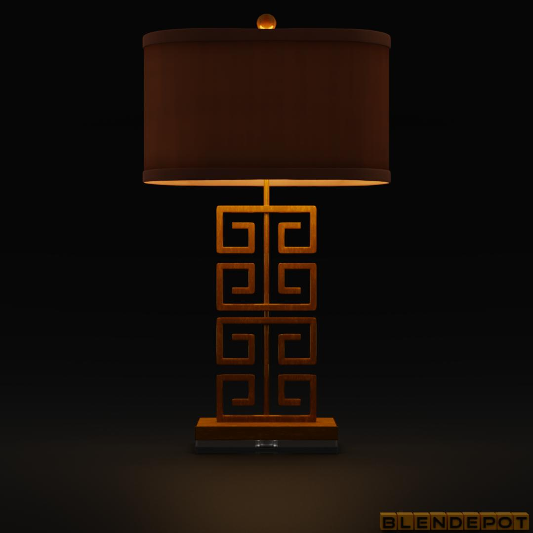 Greek Key Table Lamp Free 3d Model Finished Projects Blender