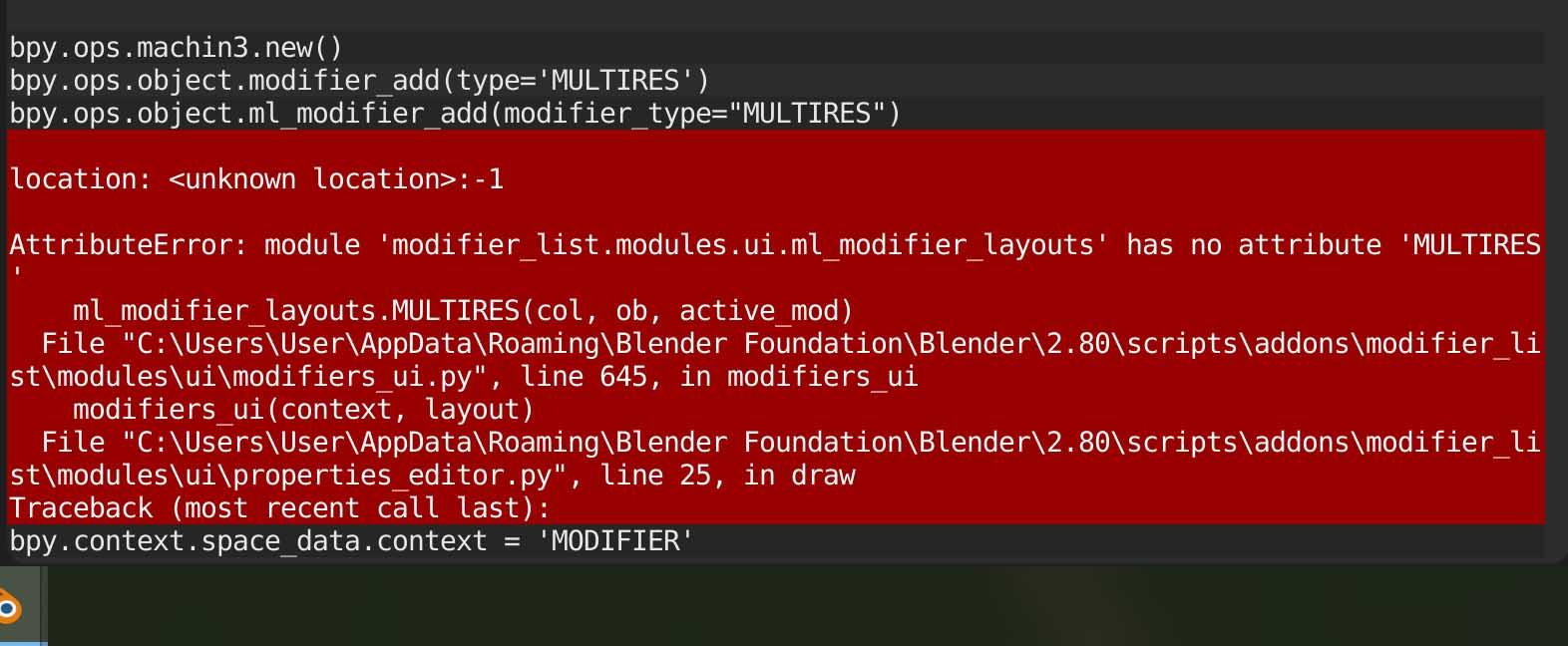 modifier-list-bug
