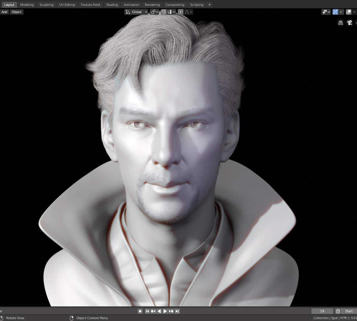 Blender 2 8 Dyntopo Sculpting Practice 2 - Finished Projects