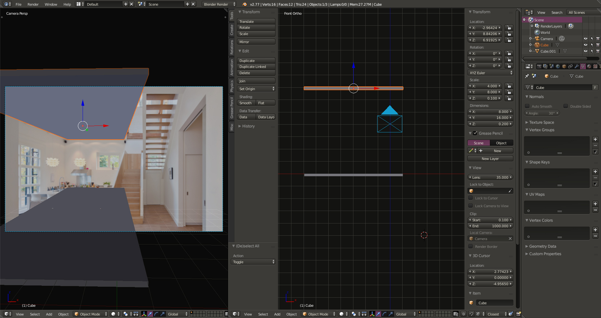 Chocofur Tutorial - Interior With Blender and Cycles - Works
