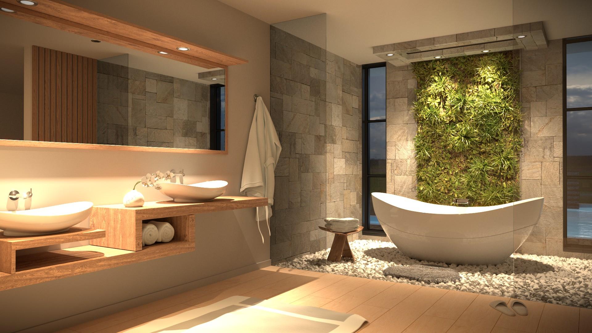 Modern Zen Bathroom Finished Projects Blender Artists Community