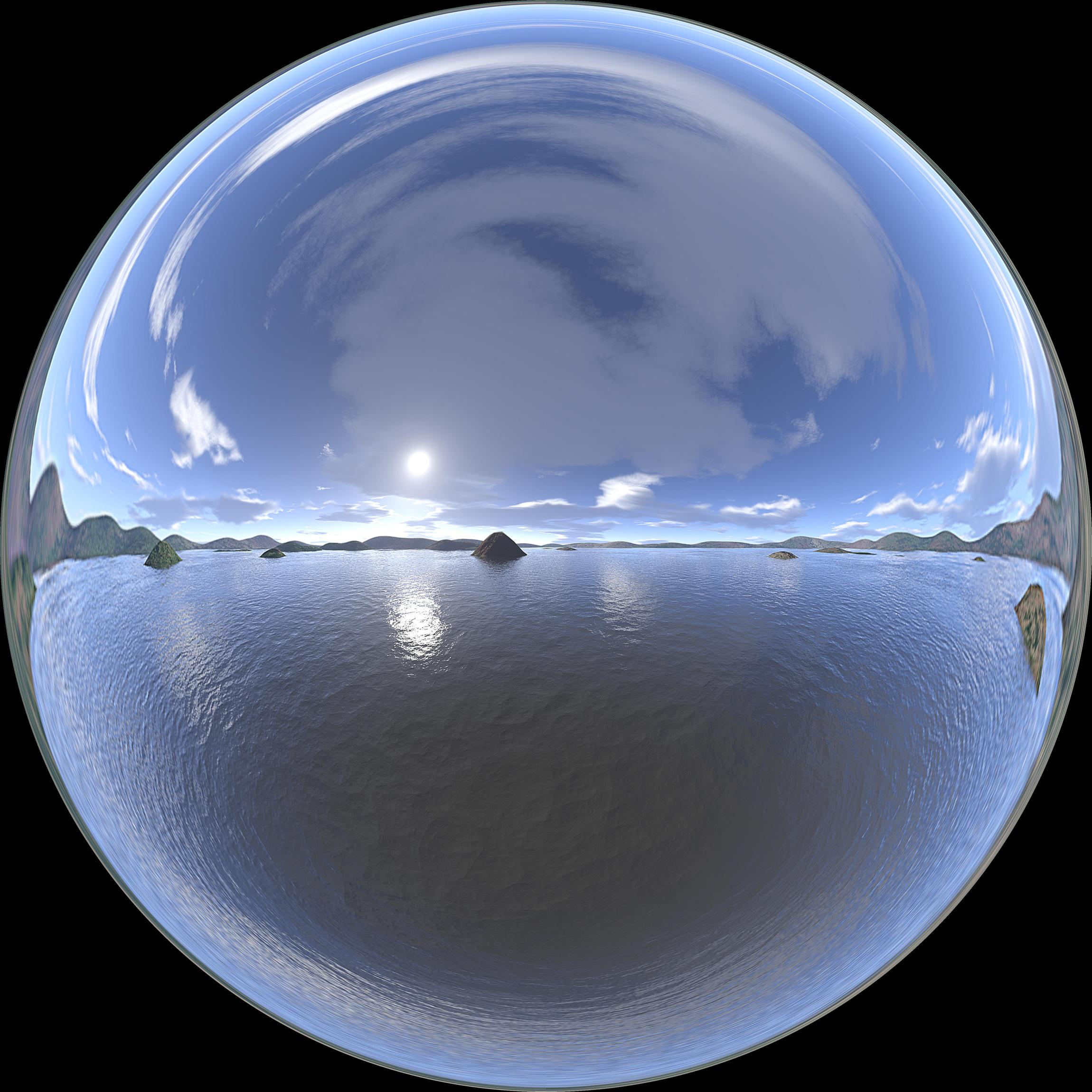 Environmental Texture Mirror Ball Materials And