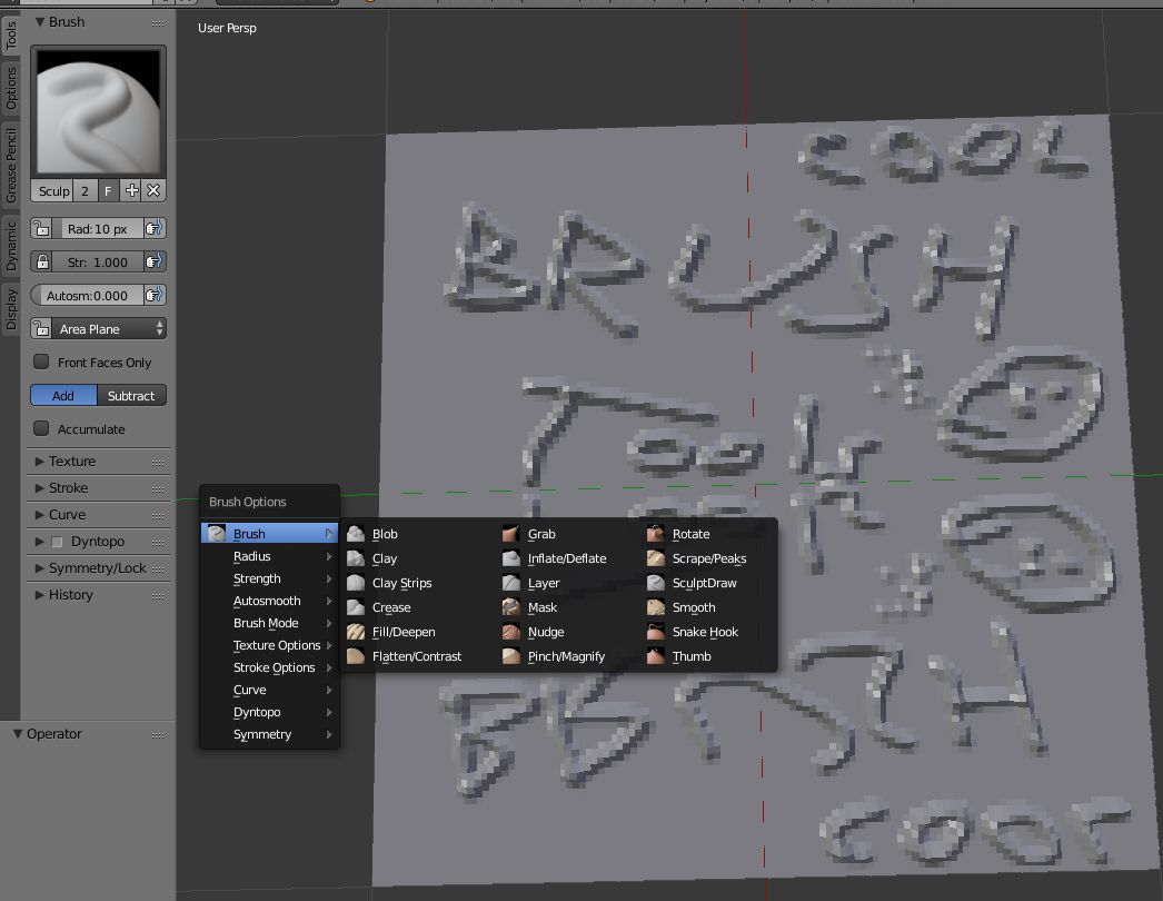 Sculpt/Paint/Brush Tools menu - Released Scripts and Themes