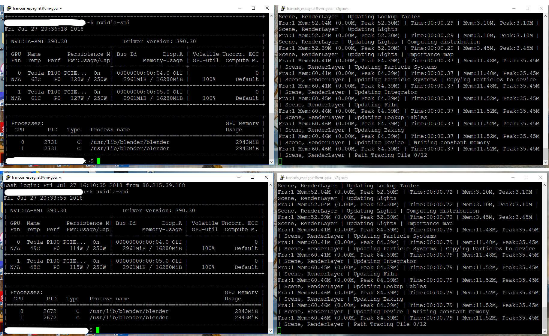 Render GPU V S  CPU on Google Cloud - Technical Support - Blender