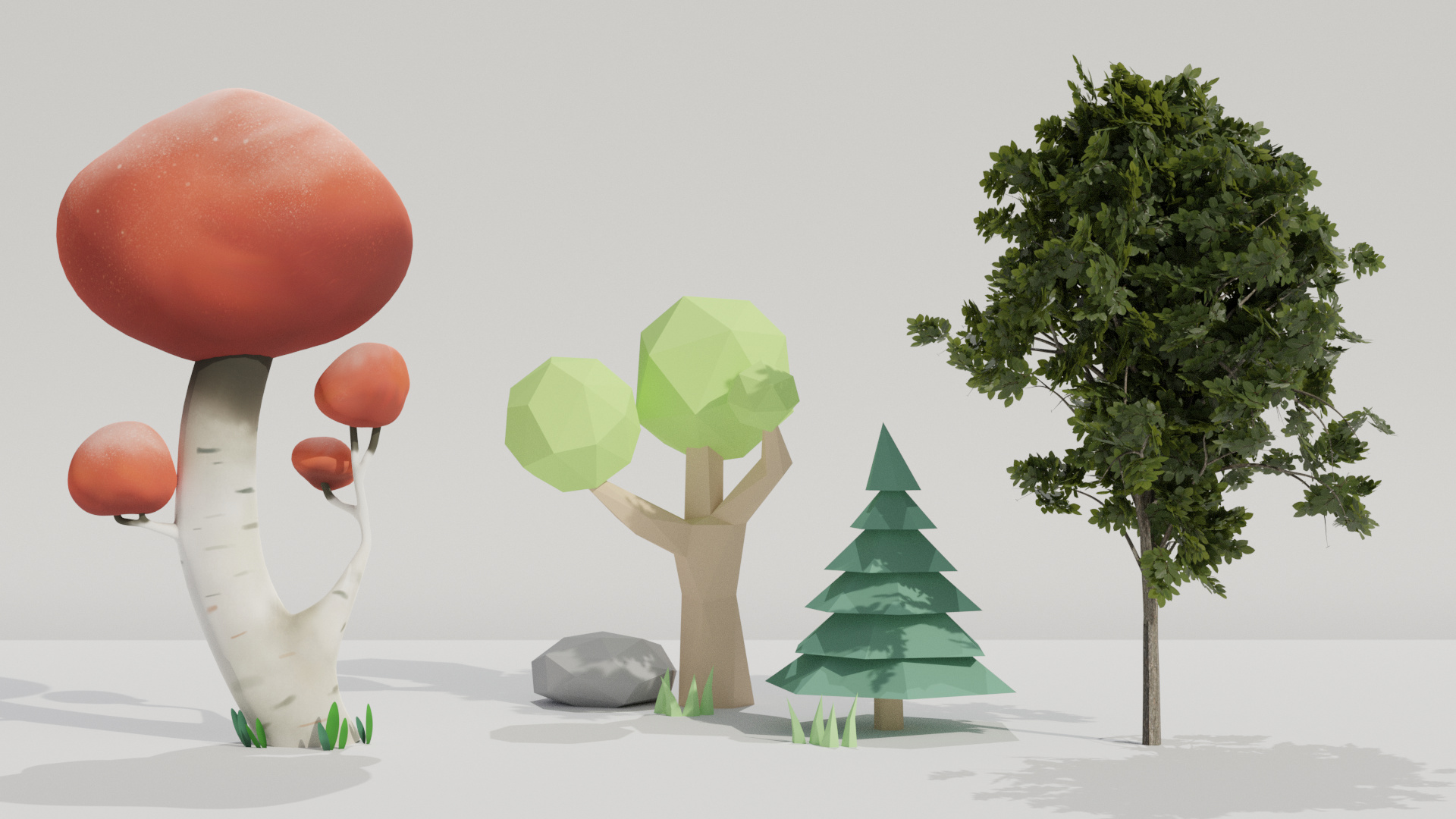 Blender course: Create 3 different styles of trees