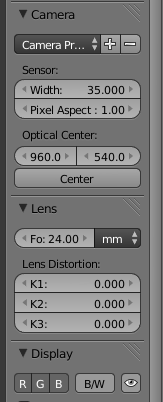 POV camera fisheye/distortion correction - Compositing and