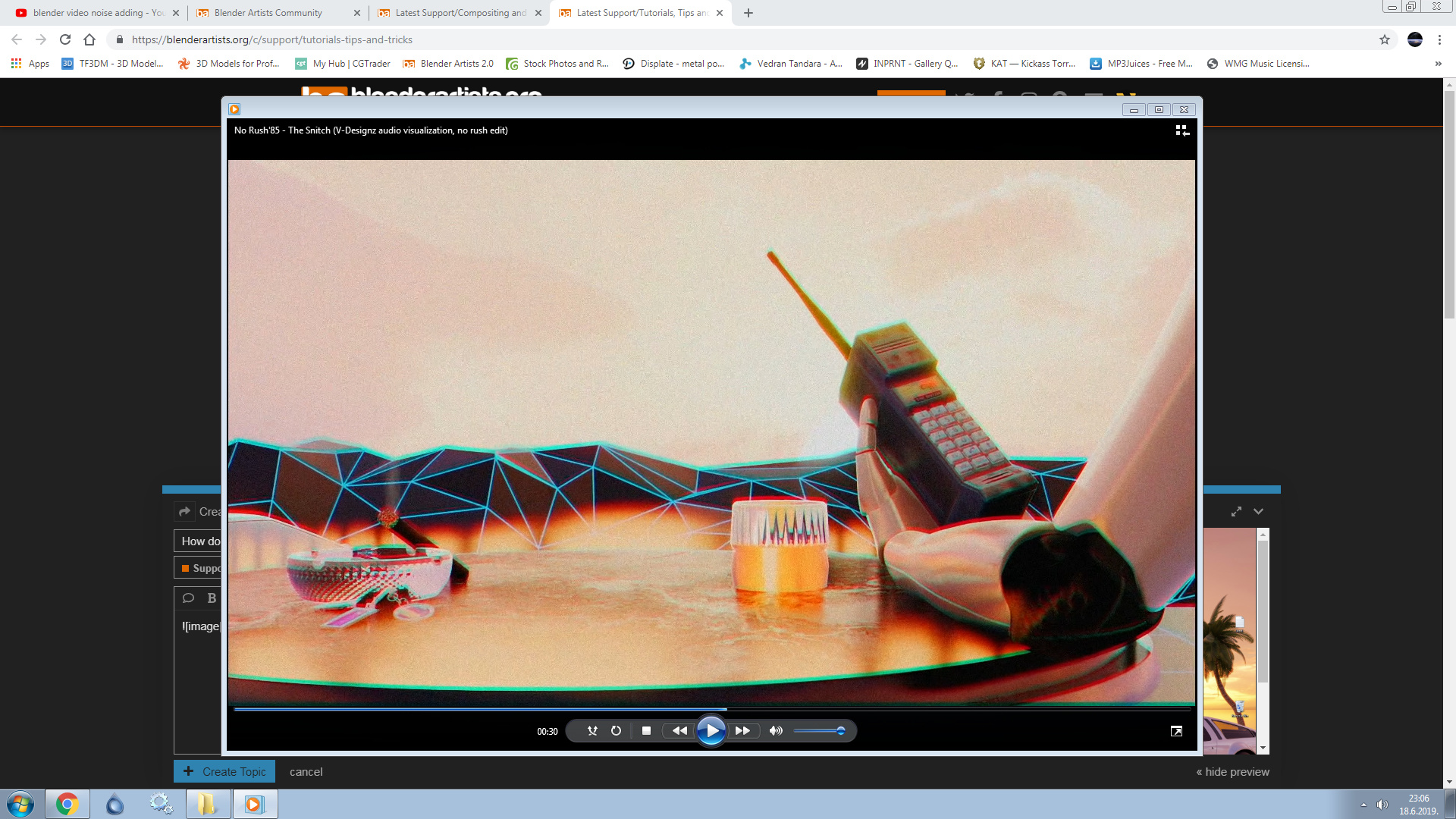 How do I add that synthwave retro noise in video editing