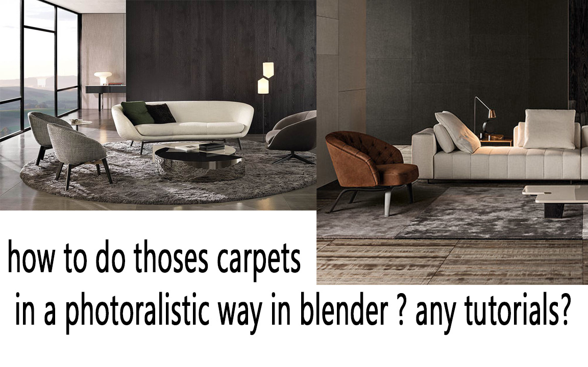 How To Recreate A Photorealistic Carpet Materials And Textures Blender Artists Community
