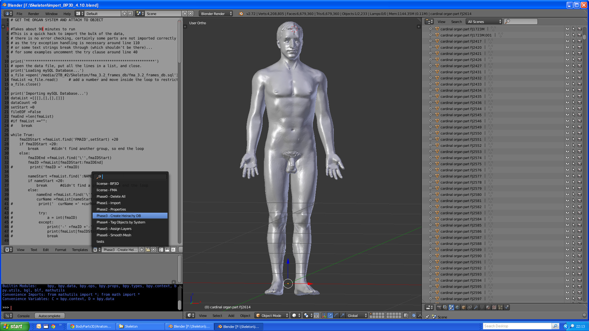 High Detail Anatomical Model Body Parts 3d Works In Progress
