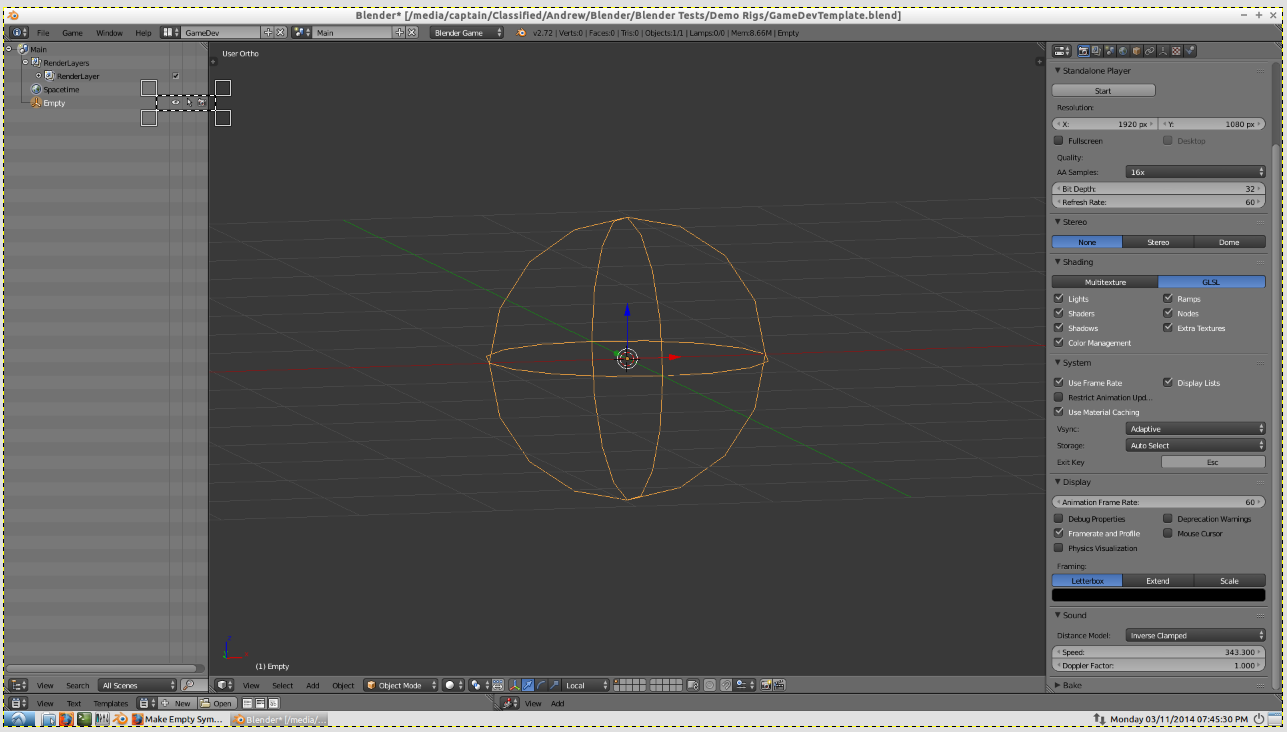 Make Empty Symbol Invisible In Viewport Game Engine Support And