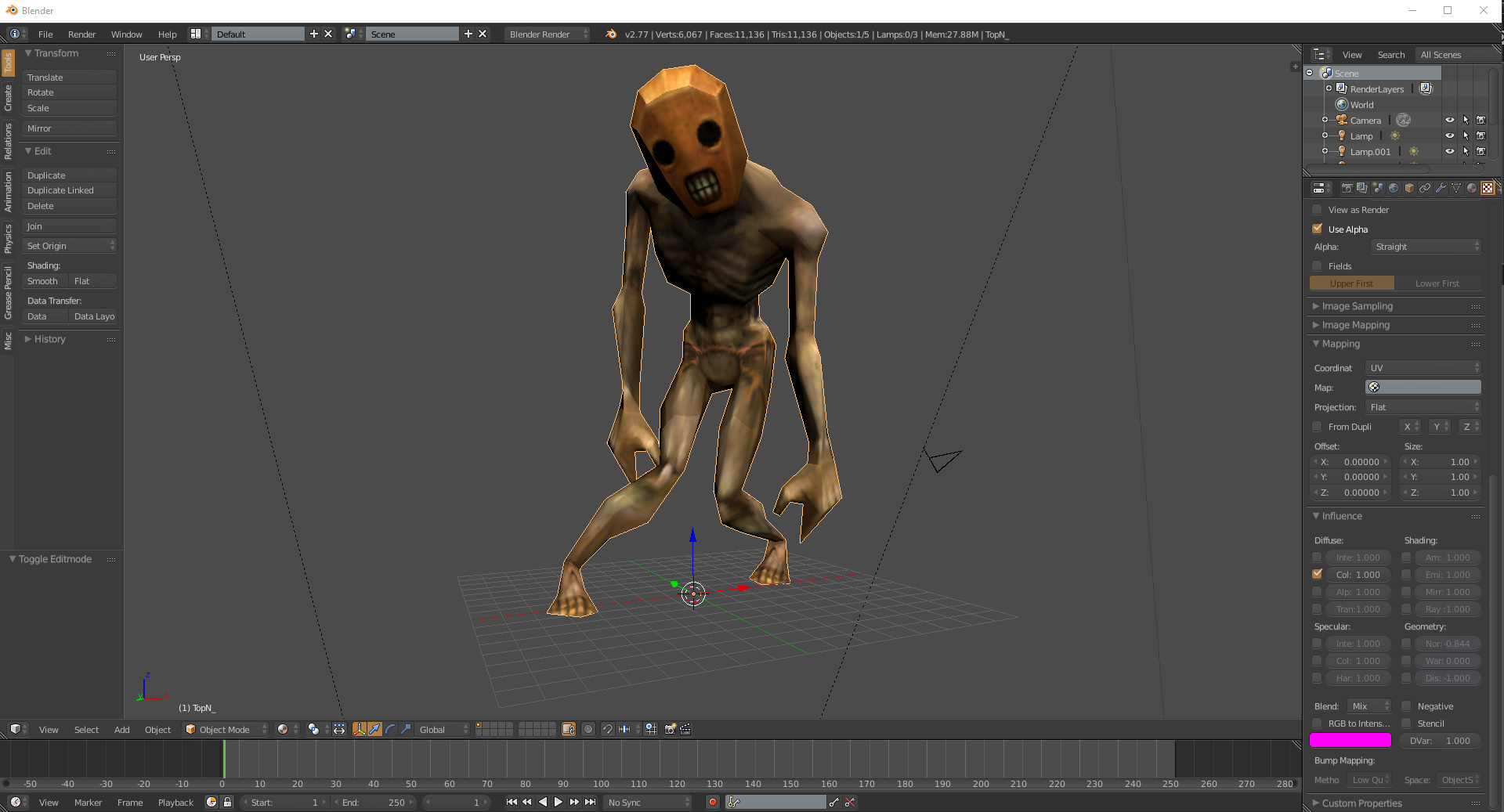 Pre-posed model w/o skeleton need to be t-posed - Animation and