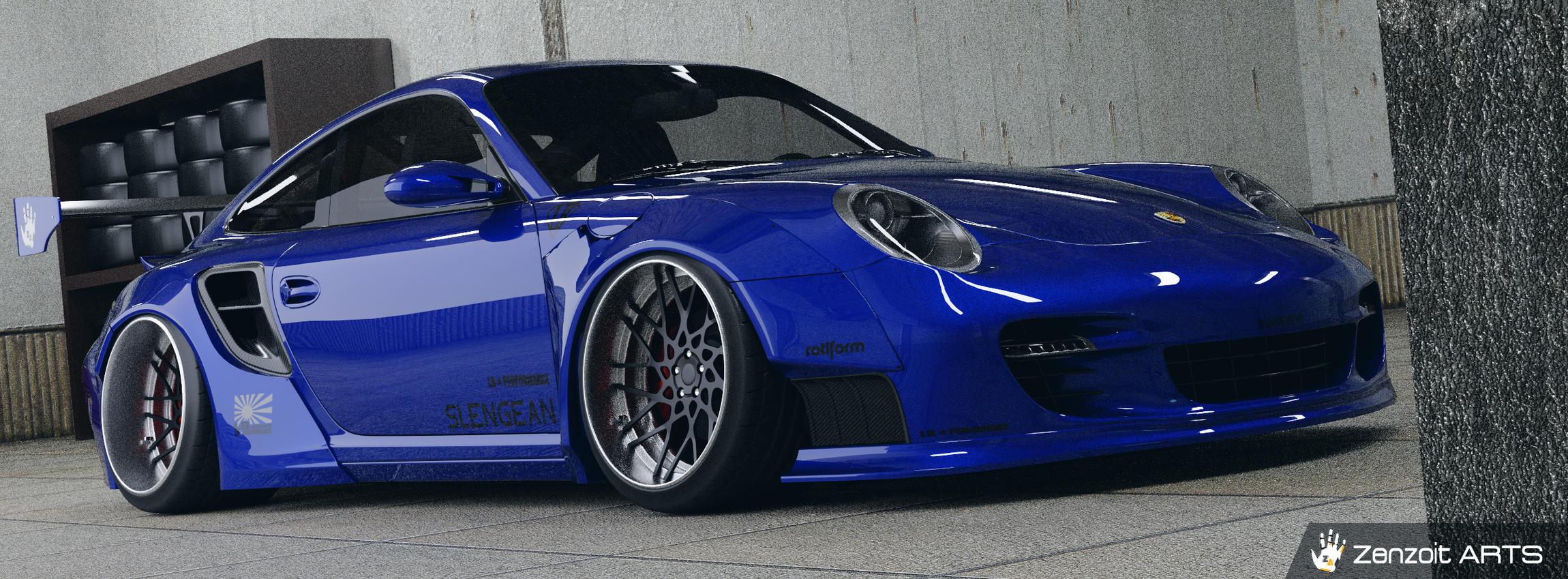 2007 Porche 911 Turbo Liberty Walk Kit - Finished Projects - Blender