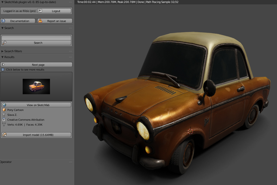 Sketchfab Importer add-on for Blender - Released Scripts and Themes