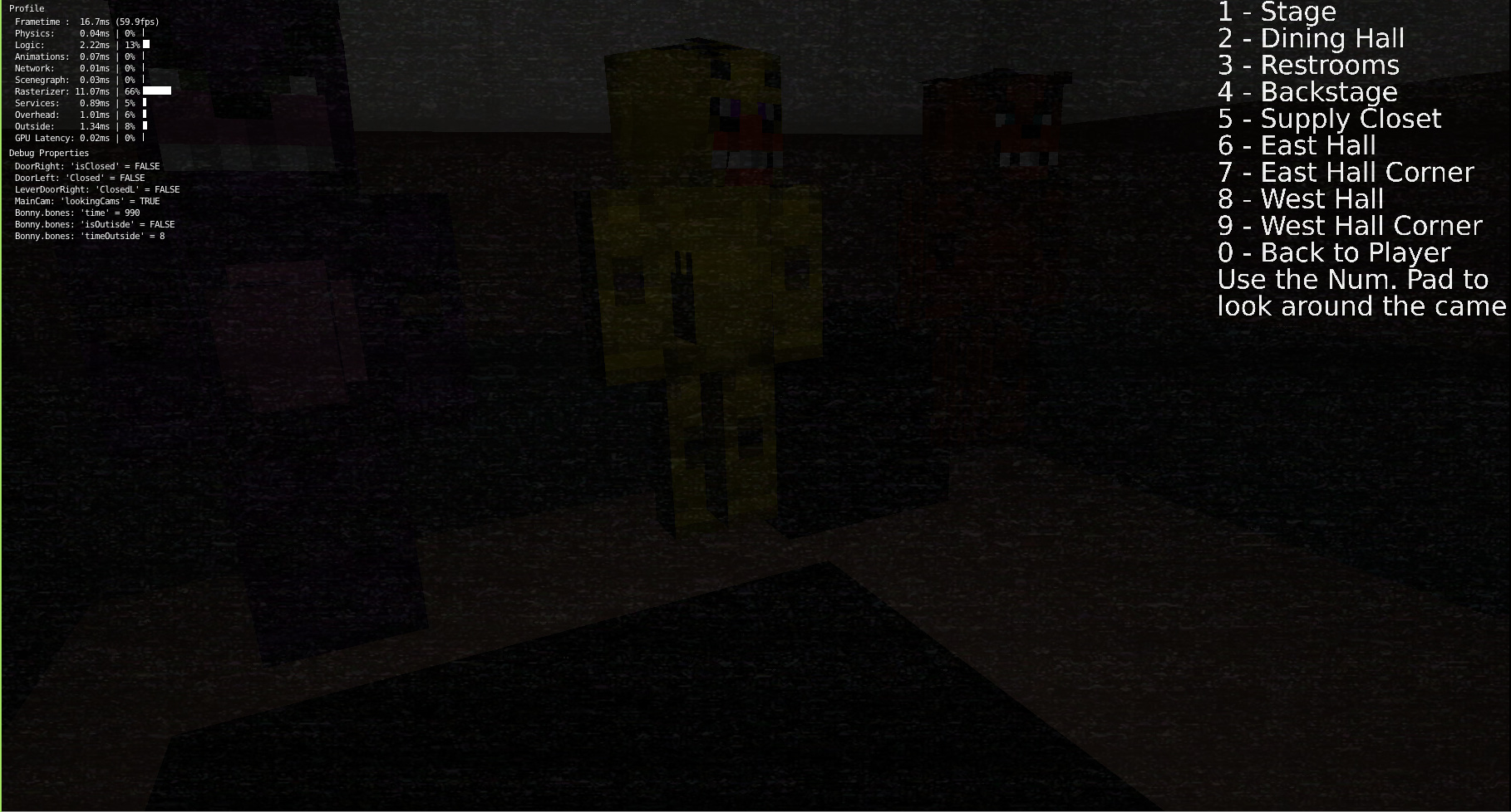 Minecraft Five Nights at Freddy's Recreated in Blender