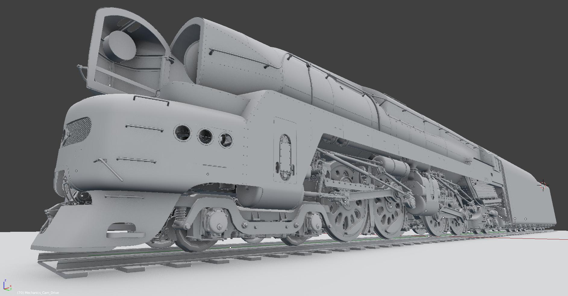 The Pennsylvaniasarus (PRR T1) - Works in Progress - Blender