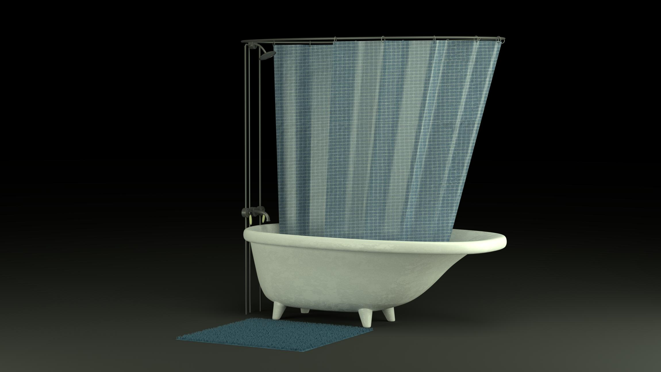Old Fashioned Tub Shower Finished Projects Blender Artists Community