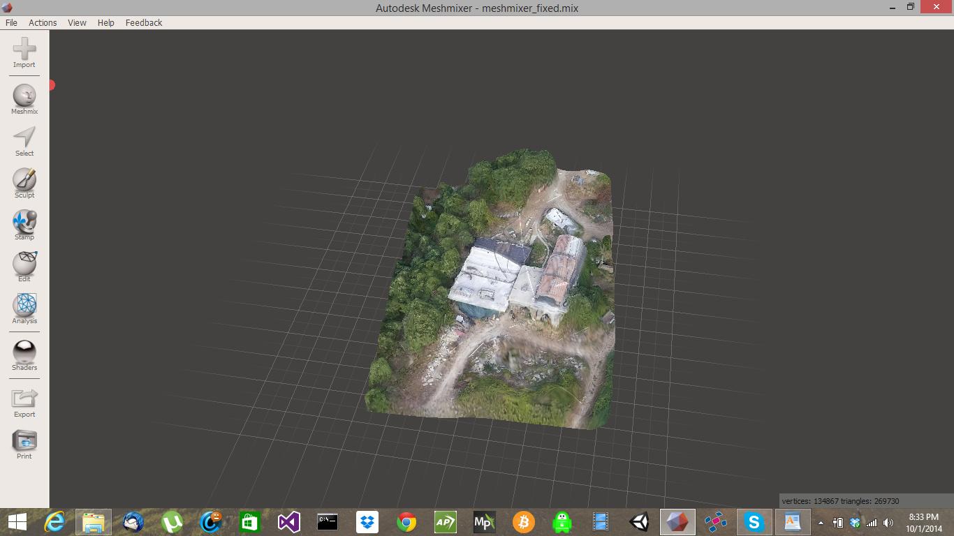 Print 3D landscape Photogrammetry model - Modeling - Blender