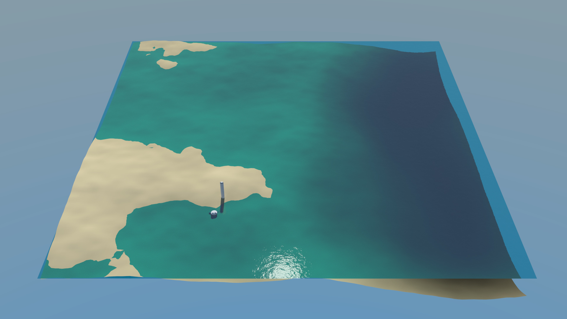 Test/Tutorial: Realistic tropical water shader in Cycles