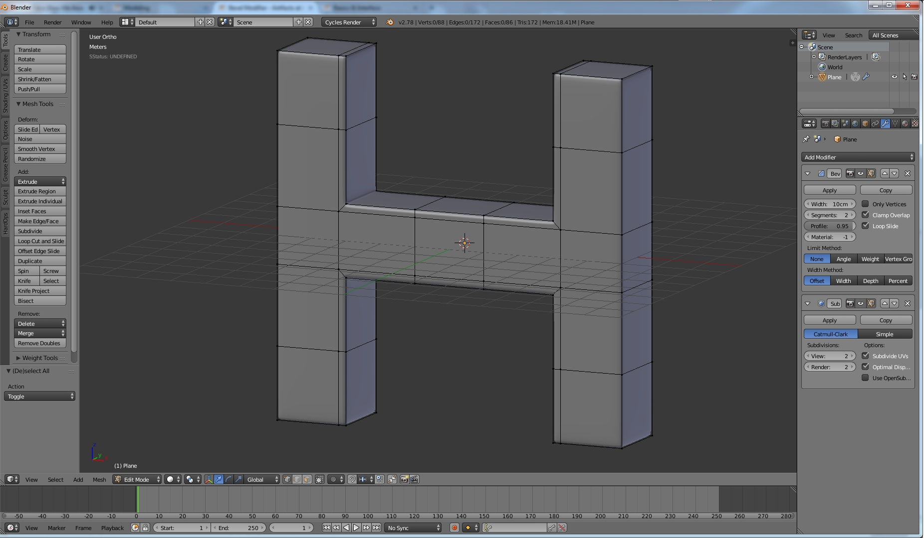 Bevel Modifier - Artifacts at L-Sections - Modeling