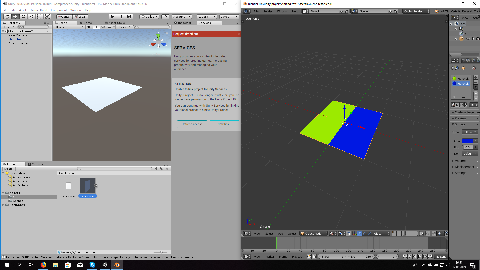 Blender to unity - materials are not working! - Other