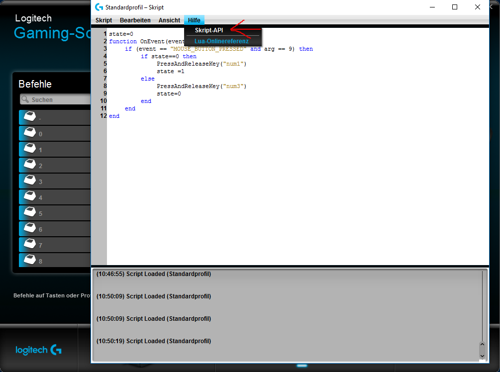 Logitech Script Not Working In Game
