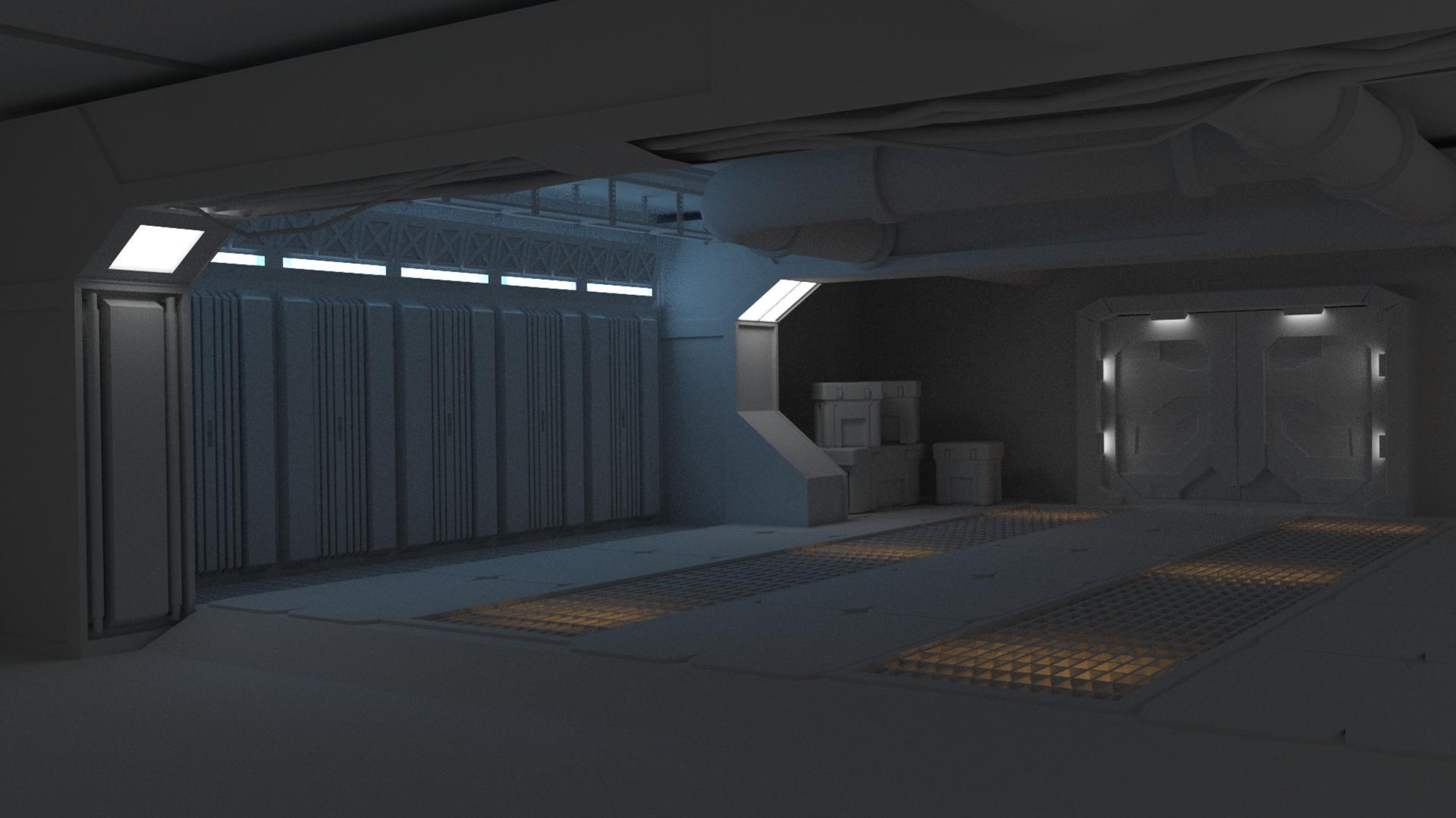 Spaceship Interior Room