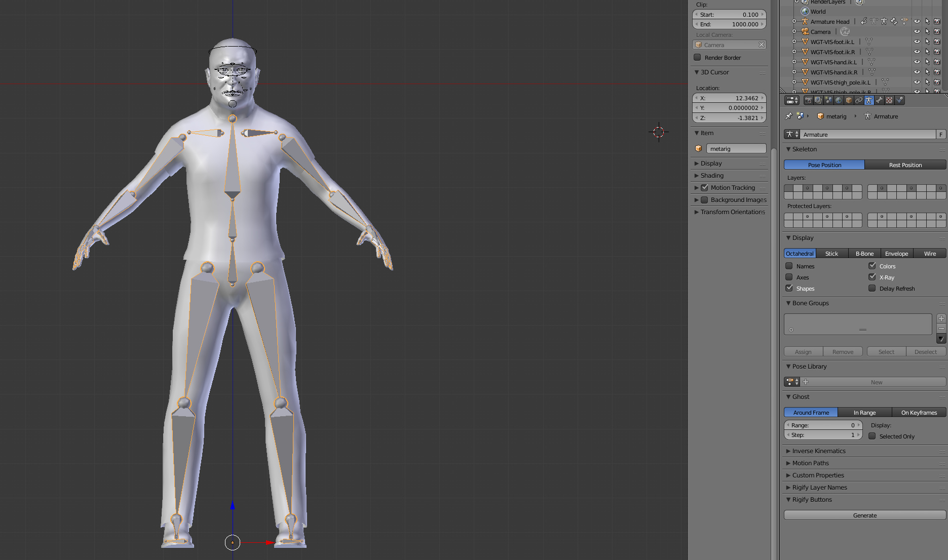 Rig body to mesh with face rig - Animation and Rigging - Blender