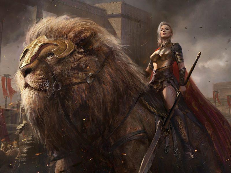 female-warrior-rides-a-great-lion